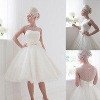 New Women Wedding Formal Dress Bride Lace Short Wedding Dresses 2019 Party Ball Gowns Vestido De Noiva Curto