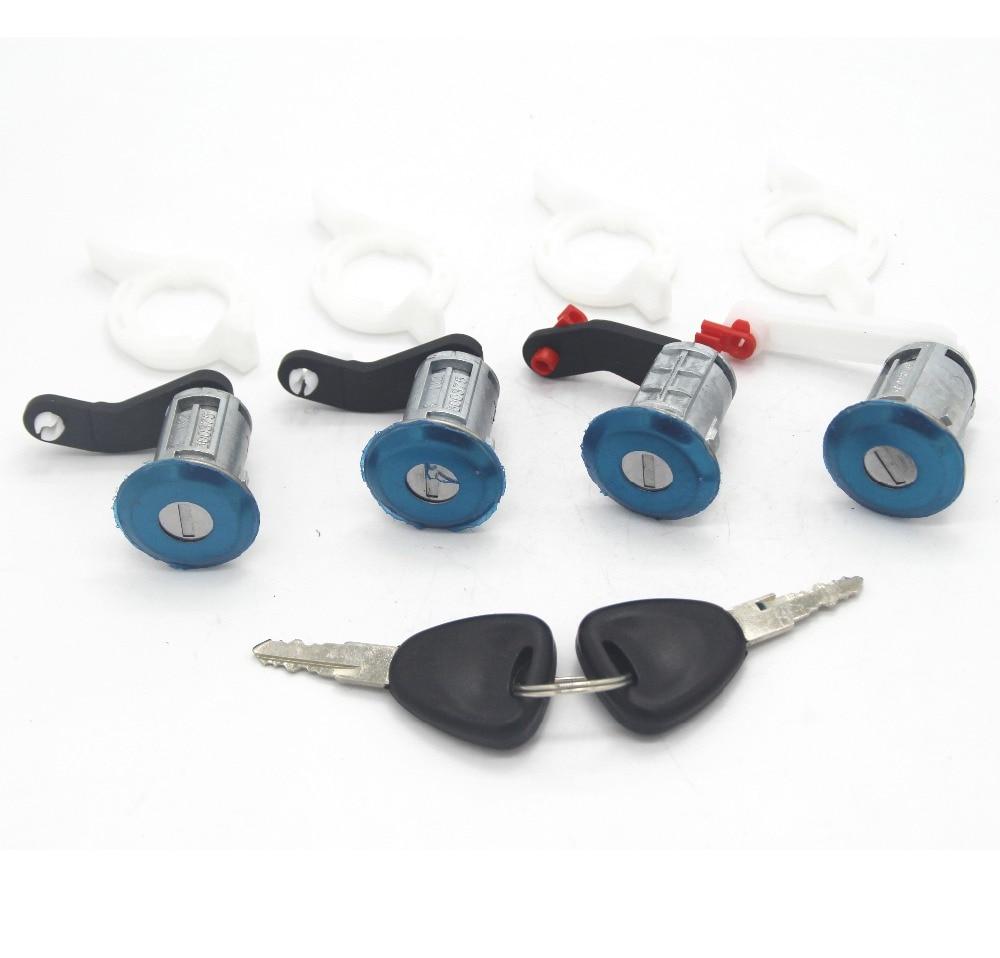 Lock Set Door Barrel x 4 pcs 7701470944 for Renault Master II 1998-2009