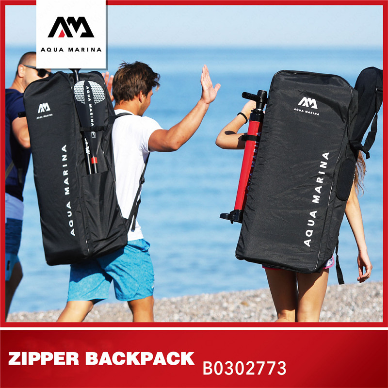 AQUA MARINA New Upgrade ISUP Surfing Board Backpack SUP Inflatable Surfboard Shoulder Zipper Bag Surfing Accessories