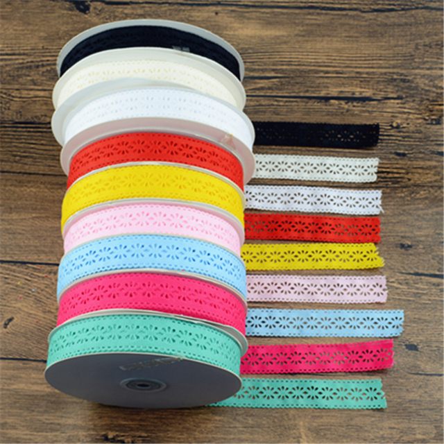 Free shipping 10 yards 25mm 9 colors hollow solid grosgrain ribbon flowers cloth tape DIY hair accessories bows
