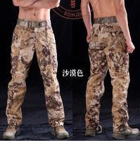 מכנסיים מטען הסוואה מכנסיים טקטיים צבאיים Pantalon פיתון ייבוש מהיר מכנסיים 2016 מכנסיים combat ודלנד