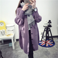 Kesebi New 2016 Autumn Winter Female Loose Single Breasted Long Sleeve Sweaters Women V-neck Thick Warm Long Knitted Cardigans