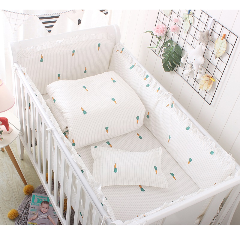 Super Soft Cotton Baby Bedding For Newborns Detachable Cradle Bedding Set In a Cots For Babies