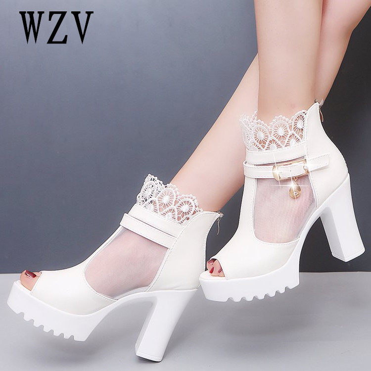 New arrival Fashion Platform 10cm High Heels Sexy Women Pumps Women Shoes Cut Outs Shoes Spring Summer Woman sandals Black white women creepers shoes 2015 summer breathable white gauze hollow platform shoes women fashion sandals x525 50