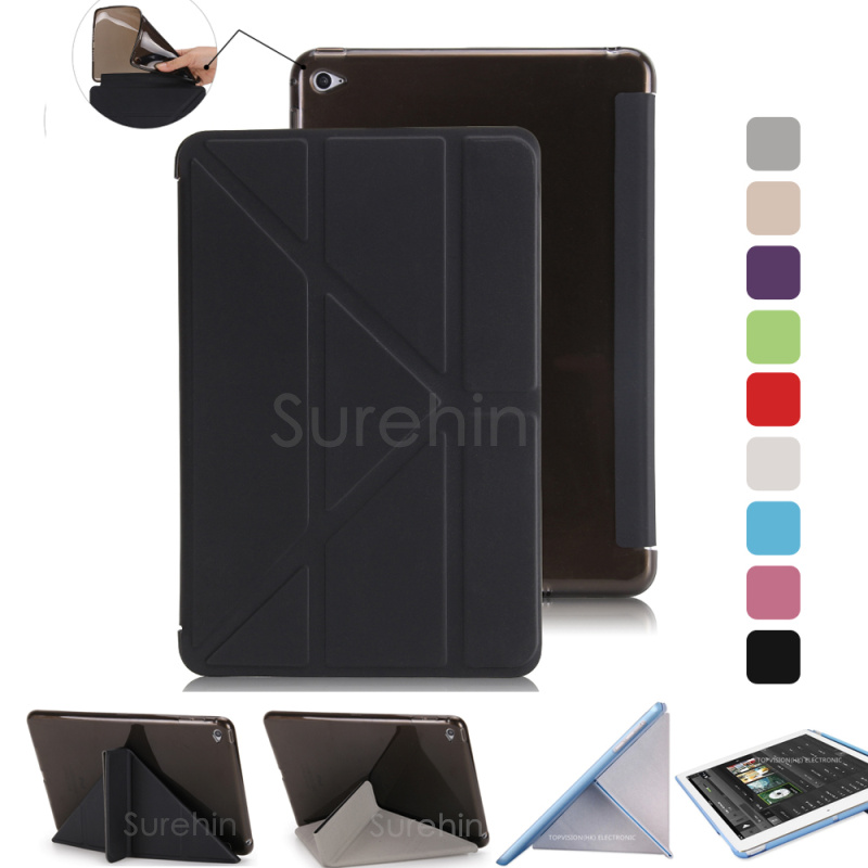 Good TPU flexible silicone soft back smart leather case for apple ipad mini 3 2 1 cover magnetic stand flip slim thin skin nice cover for apple new 2017 ipad air 1 case slim thin flip soft tpu silicone protect magnetic smart pu leather case cover