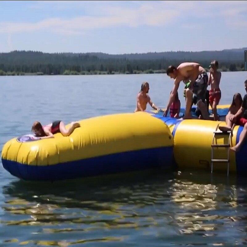 Water Trampoline+ Blob Bouncing Bag +slide 5 M (16.4 Feet) Diameter  Inflatable Trampoline Or Inflatable Bouncer Water Park Used