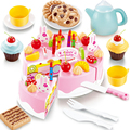 1Set Kids Toys Girl's Birthday Cake DIY Model Baby dolls Pretend Play Game Accessories Food Fruit Early Educational Classic Toy