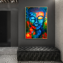 Modern Buddhism Posters and Prints Wall Art Canvas Painting Decoration Lord Buddha Pictures For Living Room Frameless