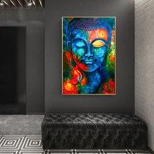 Pôsteres e impressões de budismo moderno, arte e pintura em tela, decoração para parede, imagens de buda para sala de estar, sem moldura