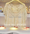 Frete Grátis 1 pc New Hotsale Mulheres Doce Lace Flor Batwing Blusa Camisa Casual Top 651400