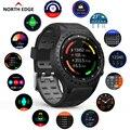 Смарт-часы North Edge  GPS  спортивные часы для бега  GPS  Bluetooth  телефонные звонки  смартфон  пульсометр  компас  Смарт-часы для мужчин