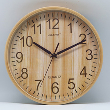 Simple Large Luxury Quartz Wall Clock Wooden Wood Digital Mechanism Cannabis Weed Reloj Nordic Design Clocks 50KO508