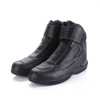 Motorcycle Boots Genuine Cow Leather Waterproof Anti-skid Fashion Design Moto Racing Boots Motorbike Touring Riding Shoes