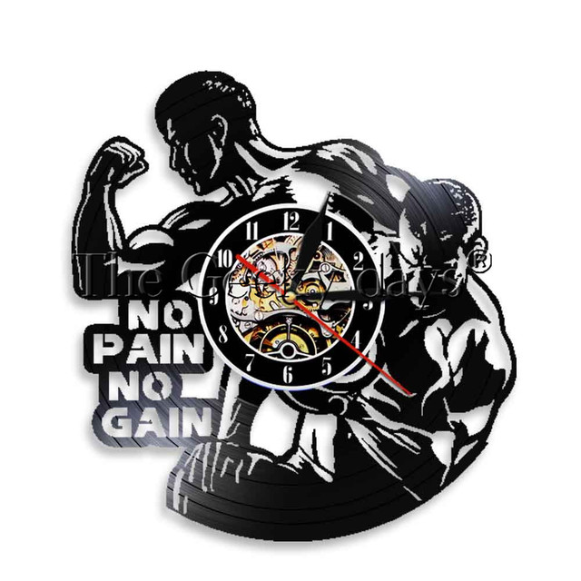 1piece No Pain No Gain Motivational Quote Led Light Sport Gym