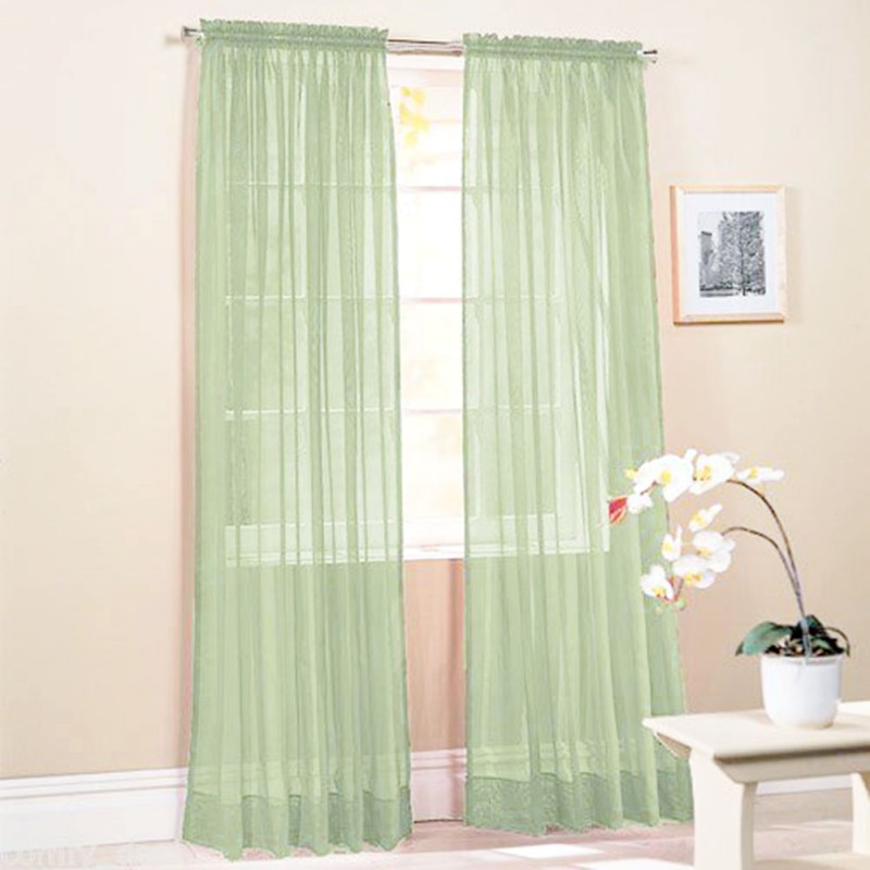 Curtain Cute Interior Home Decorating Ideas With Cafe: Fashion Tulle Window Screening Blinds Sheer Voile Gauze