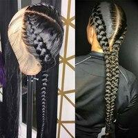 Прямые Glueless полный кружево человеческие волосы Искусственные парики для женщин 250% парик бразильский на сшивке предварительно сорвал с реб