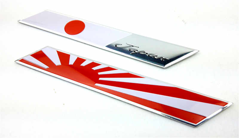 Long Rectangle Japan Japanese National Flags Car Stickers