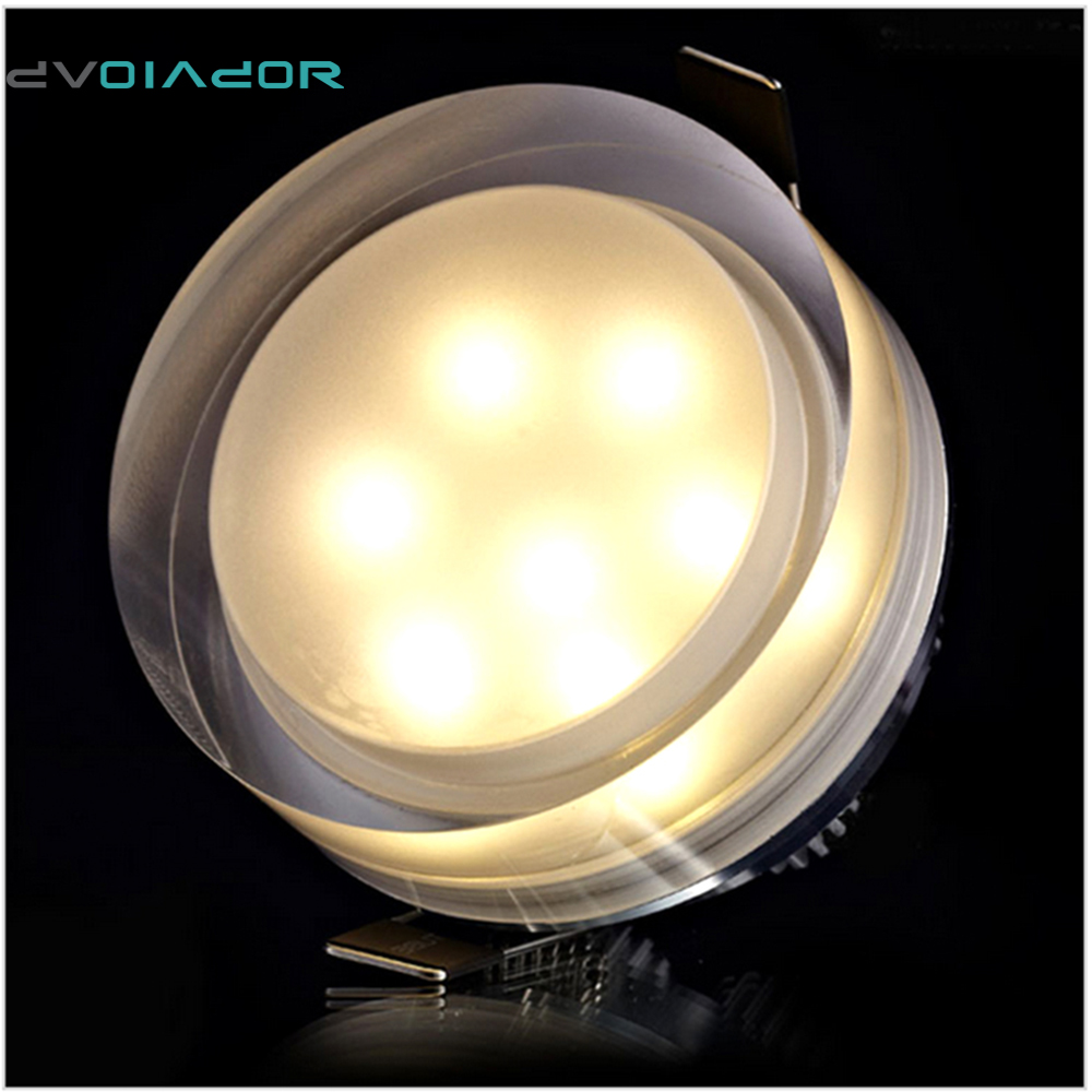 DVOLADOR Crystal Recessed IP44 LED Downlight 1W 3W 5W 7W