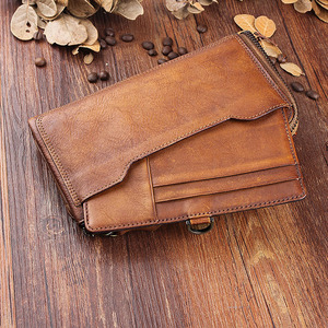 Image 3 - AETOO الأصلي الرجال الرجعية vintage جلد هاتف محمول محفظة متعددة بطاقة بت حقيبة يد جلدية طويلة سستة ضئيلة
