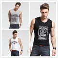 2016 New Jack Daniel Whiskey tank tops Nice Print High Quality Clothing Men's vest tops Fashion Tee sleeveless shirt