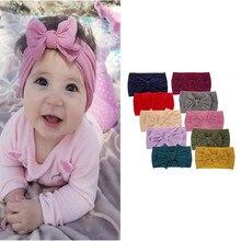 Лидер продаж, товары, детские повязки на голову, тюрбан, завязанные повязки для девочек, для новорожденных, малышей и детей, тюрбан, детские подарки