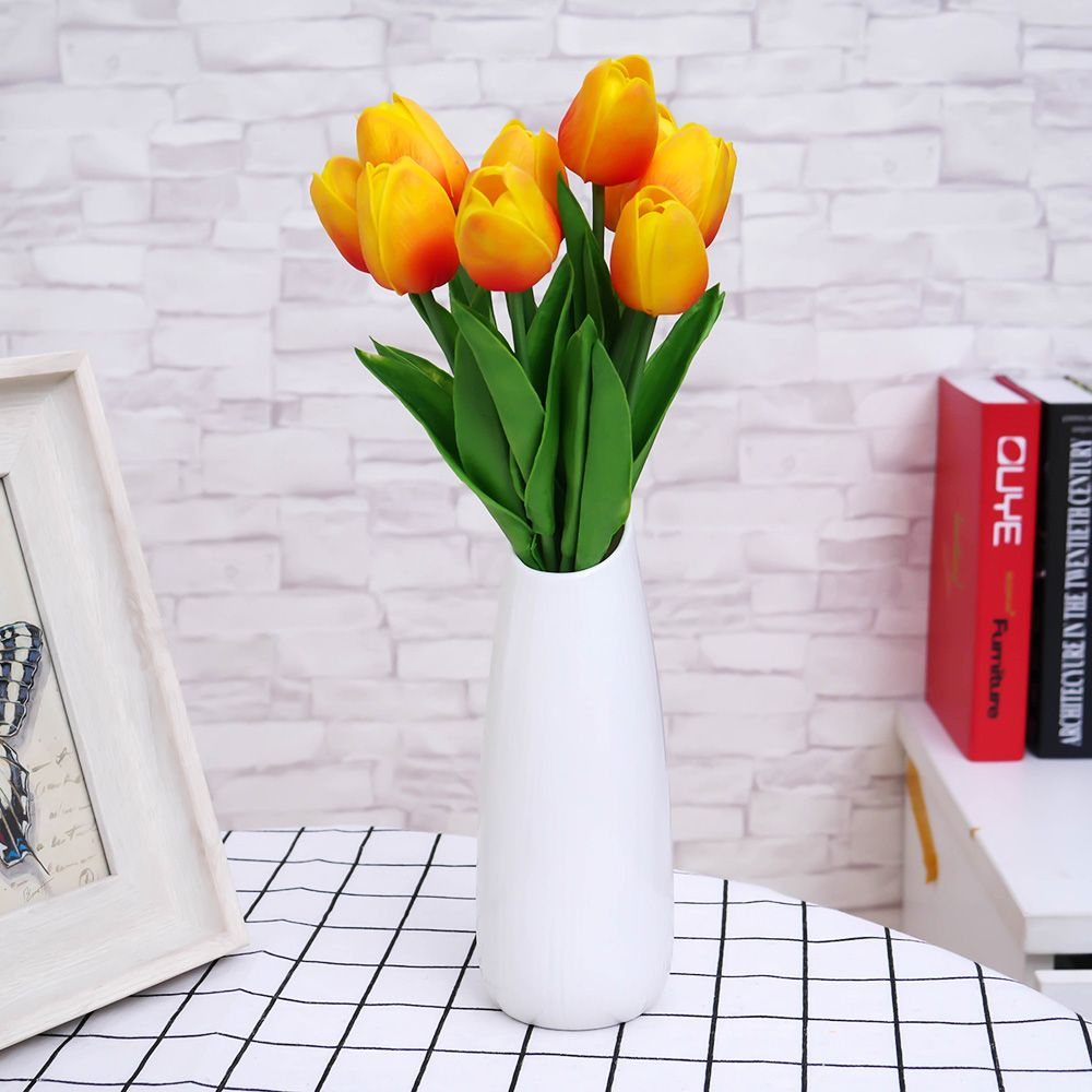 10pcs/lot PU Fake Artificial Silk Tulips Flores Artificiales Bouquets Party Artificial Flowers For Home Wedding Decoration ...