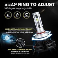 Vehemo 8000LM Lamp Bulb Automobile Head Lamp Durable X3 Light