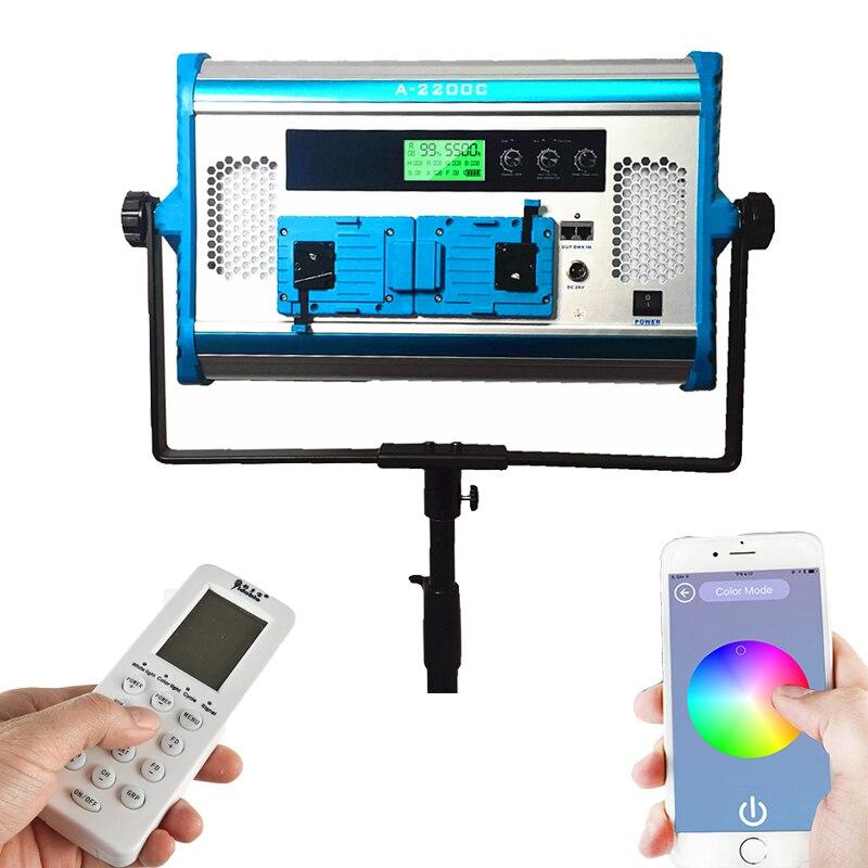 Yidoblo A-2200c Dimmable 140 W RGB 4 couleurs Pro lampe à LED Film vidéo LED panneau lumineux doux avec écran LCD téléphone App télécommande