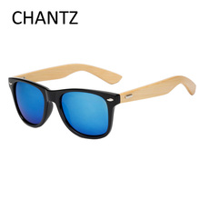Ретро солнцезащитные очки женщин / мужчин бренд-дизайнер 2016 бамбук солнцезащитные очки зеркало очки gafas de sol mujer hombre