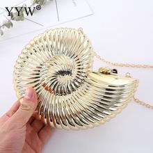 Gold Sliver Fashion Evening Clutch Women Chain Sling Shell Bags Party Wedding Crossbody Bags For Women Small Cute Purse Clutches beautiful flamingo crystal wedding clutch bags crystal clutches purse women evening bags ladies handbag