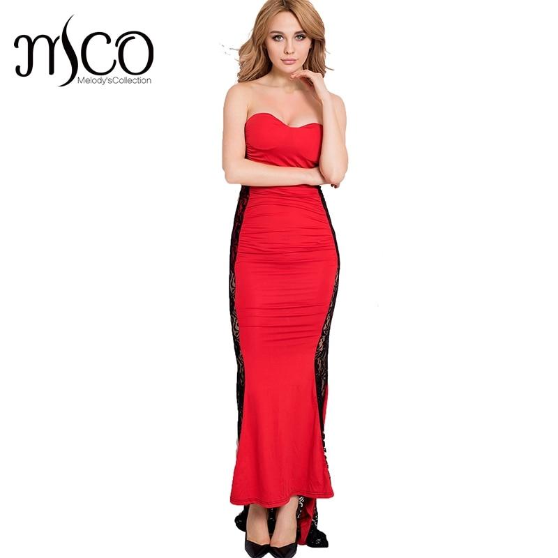 2017 Sexy Strapless Dress Floor length Evening Vestidos Longo Elegant Lace Prom Vestidos Plus Size Lace