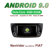 OTOJETA Car GPS 6.1inch Android 9.0 Radio FOR DECKLESS FIAT DOBLO bluetooth Navigation Capacitive screen support mirror link
