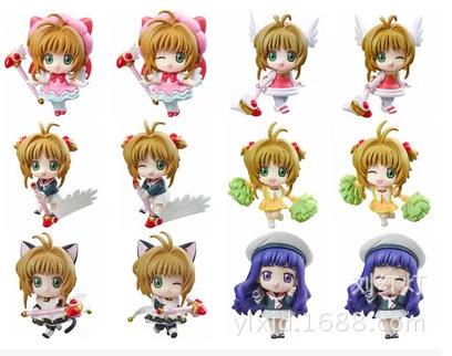 Cardcaptor Sakura Kinomoto Sakura Daidouji Tomoyo Action Figures PVC brinquedos Collection Figures toys for christmas gift