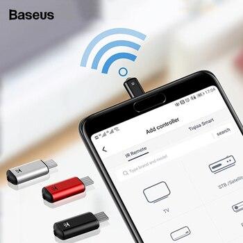 Baseus inteligente de Control remoto para Micro USB Universal inalámbrico controlador remoto IR para LG Samsung TV BOX Air Mouse aire acondicionado