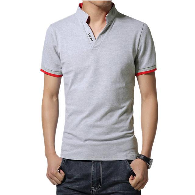 207fdfcce 2018 Homens Boutique de Moda de Lazer Algodão Gola Manga Comprida Camisas  POLO Dos Homens de
