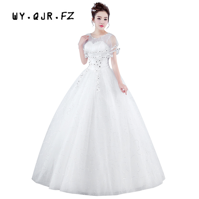 XXN#White and red lace up Bride\'s wedding dress plus size Ball Gown ...