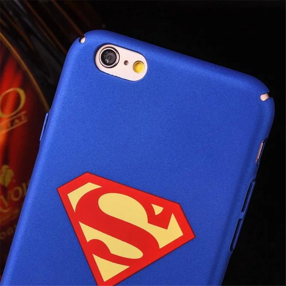 Superman Black Blue Color Hard Pc Phone Cases For Iphone 7 6 6s 8 Plus Case 5 5s Se Chrome Cover Fundas In Ed From