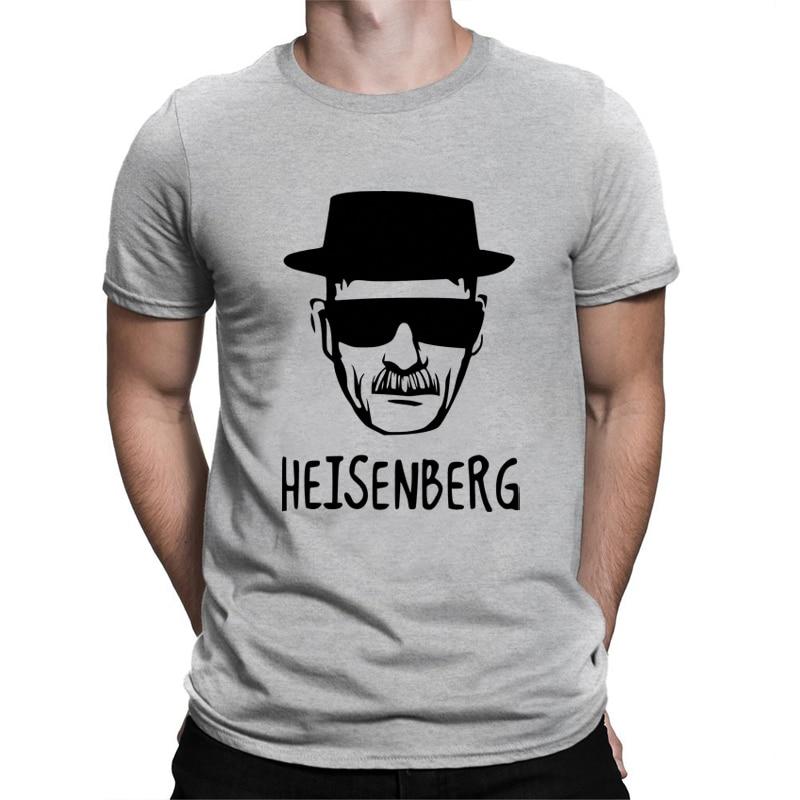 BLWHSA Breaking Bad Heisenberg Printed T font b Shirt b font Men Casual Short Sleeve Heisenberg
