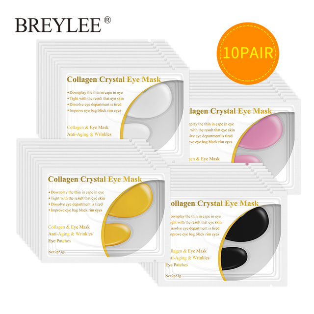 BREYLEE 24K Gold Eye Serum Rye Mask Collagen Gel Anti Wrinkle Puffiness Eye Patch Face Skin