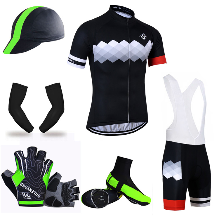 ФОТО Siilenyond 2017 100% Polyester Mountain Bike Clothing Racing Bicycle Clothes Maillot Ropa Ciclismo Summer Big Cycling Set