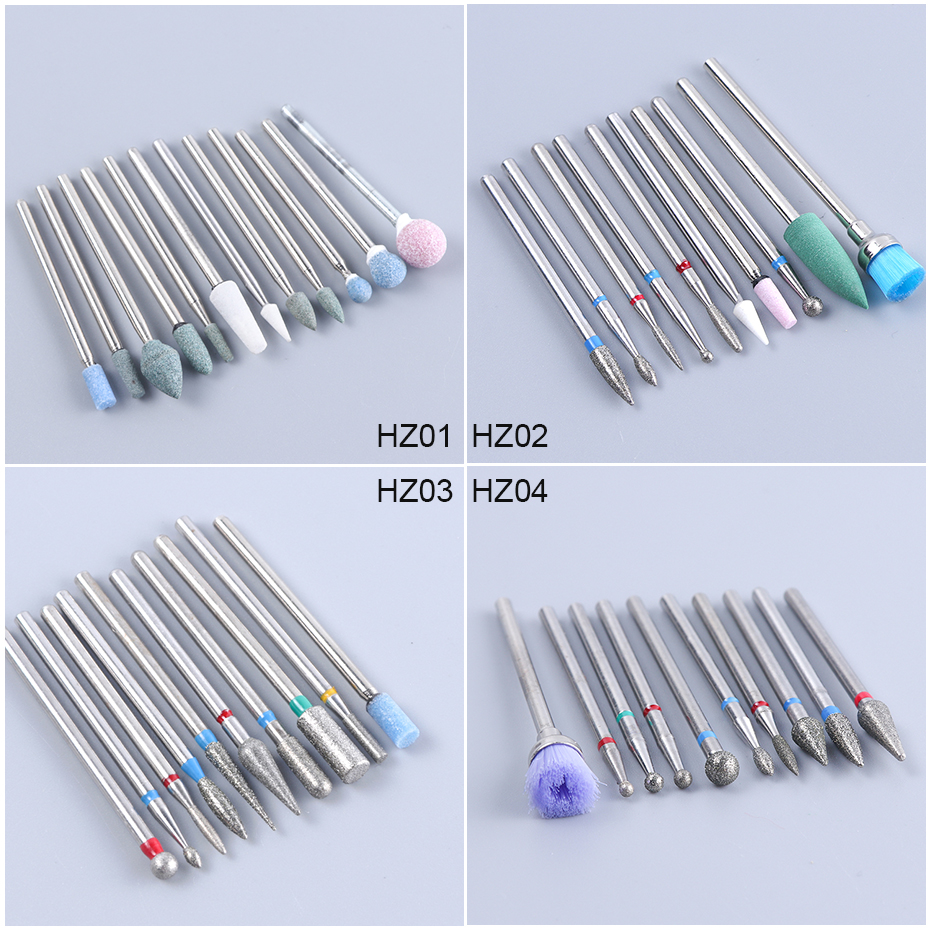 Ceramic Nail Bits Cuticle Cleaning Diamond Electric Polishing Nail Drill Bit Set Milling Cutter Files Pedicure Tools CHHZ01-04 (1)