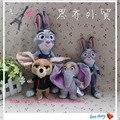 Бесплатная доставка 1 шт. последнего фильма zootopia кролика Джуди Hopps полиция женщины лиса Ник овец слон симпатичные плюшевые мягкие кукла