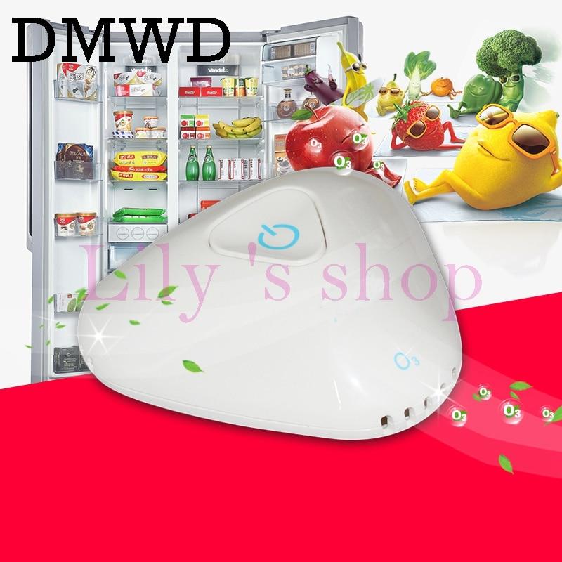 DMWD Rechargeable USB Ozone Ionizer Generator refrigerator Deodorizer air purifier Sterilization Disinfection mini Sterilizer