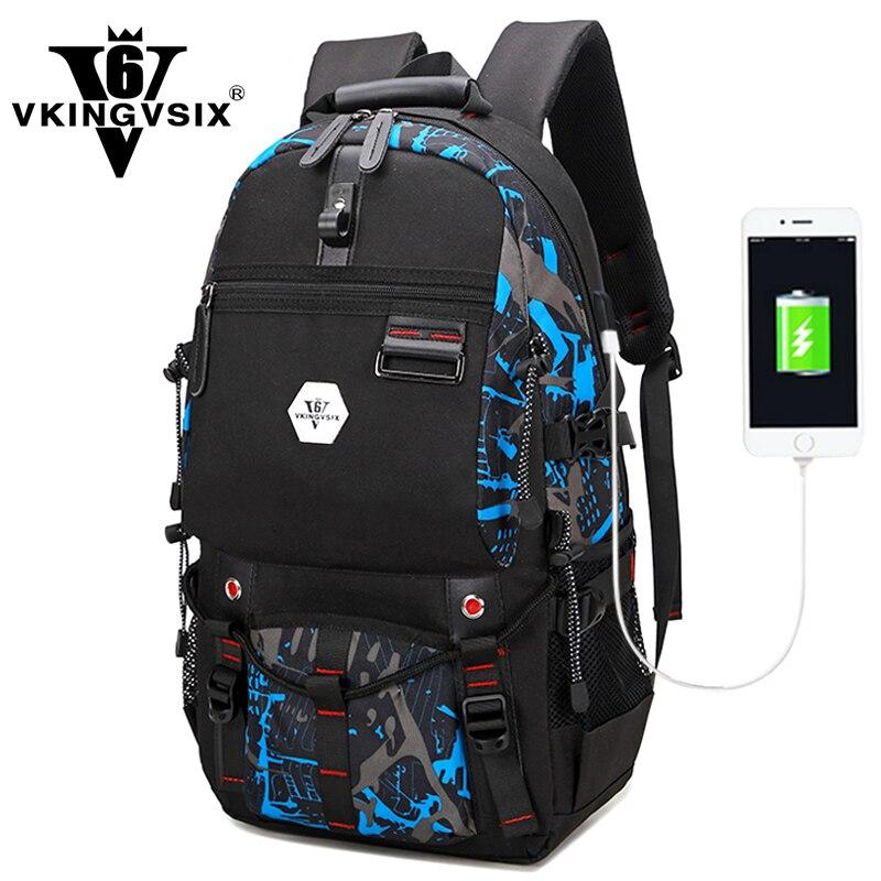 Nouveau design USB Étanche sac à dos Hommes 15.6 pouces ordinateur portable sac à dos 4 couleur sélectionnez Voyage Sac 2018 sac d'école sac à dos mochila