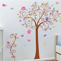 Flower Tree Wall Decal Colorful Hot Sells Wall Decals Zooyoo7250 Home Decorations Diy Pvc Removable Wall