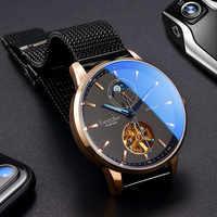 Bestdon Men Watch 2018 Hot Wrist Brand Luxury Famous Male Clock Automatic Watch Leather Casual Business Watch Relogio Masculino
