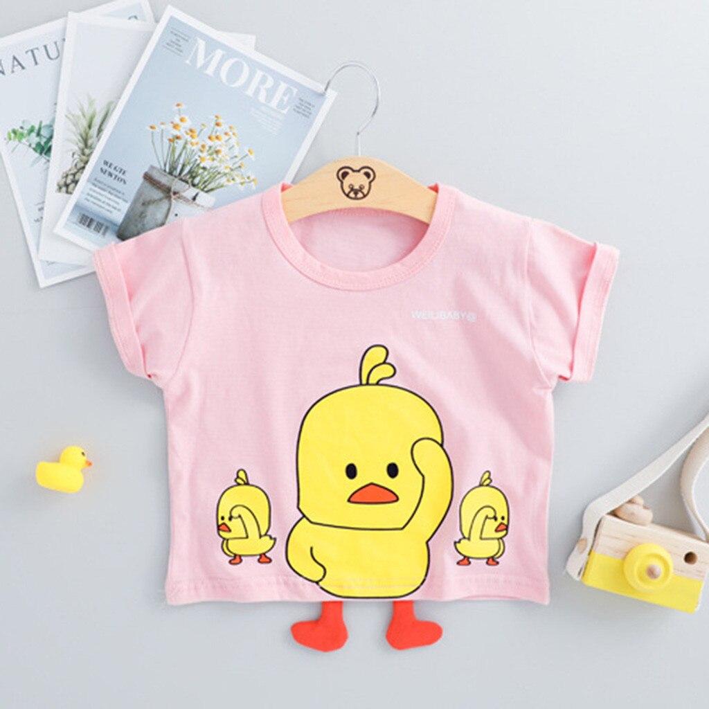 Toddler Infant Baby Kid Boys Cartoon Duck T-shirt Tops Short Pants Outfits Set