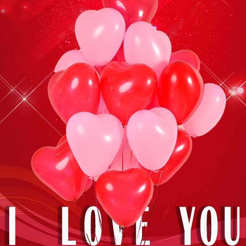 20 cái/lốc Dày 2.2 gam Hồng Trắng Đỏ Tình Yêu Latex Balloons Hình Trái Tim Ngọc Trai Không Khí Ballon Cưới Trang Trí Sinh Nhật Đảng nguồn cung cấp