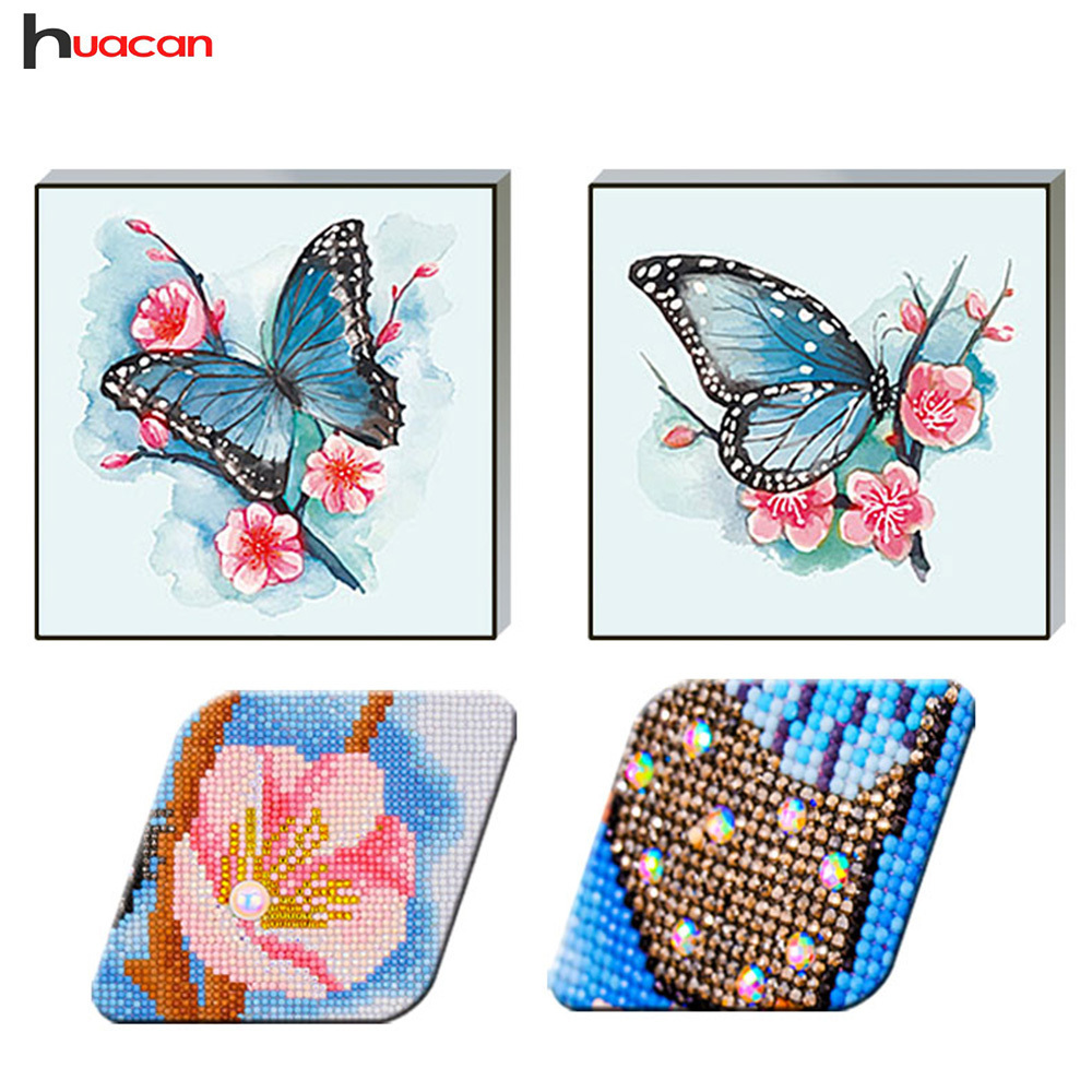 Special Shape Diamond Painting Butterfly Picture Of Rhinestone Handwork Diamond Mosaic Sale 50x50 Decoration Home Factory Direct