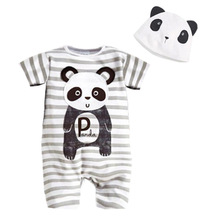 Newborn Baby Clothes Animal Style Infant Romper+Hat